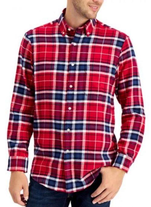Club Room Men's Plaid Flannel Shirt