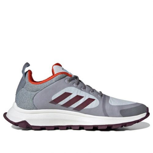 Adidas Womens WMNS Response Trail X 'Grey' Grey/Maroon/Blue Marathon Running Shoes/Sneakers EF0528 (Size: US 5)