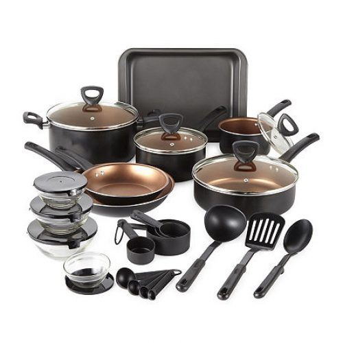 Cooks 30-pc. Nonstick Cookware Set, One Size , Black