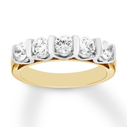 Diamond Anniversary Band 1 ct tw Round-cut 14K Two-Tone Gold