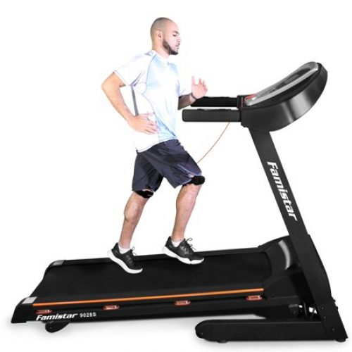 Famistar 9028S Folding Electric Treadmill Motorized Running Machine, 3.25HP Portable Auto Incline Treadmill, w/ 15 Levels Incline, Up to 9MPH...