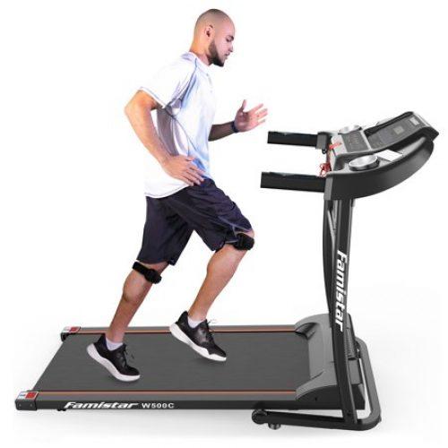 Famistar W500C Electric Folding Treadmill w/ Heart Pulse System/ Low Noise Electric Running Training Fitness Treadmill - Built-in MP3 Speaker,...