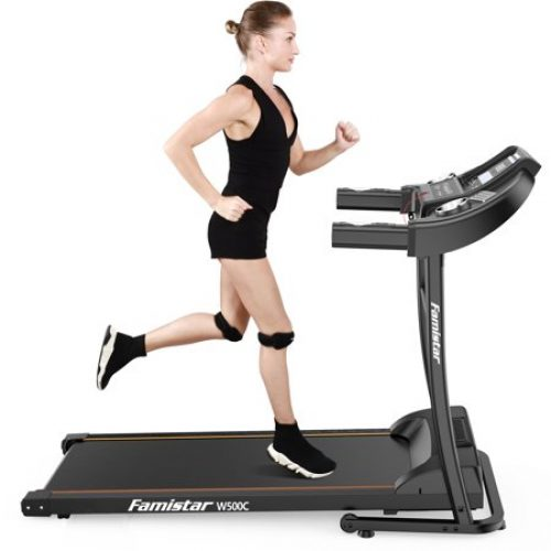 Famistar W500C Electric Folding Treadmill w/ Heart Pulse System/ Low Noise Electric Running Training Fitness Treadmill - Built-in MP3 Speaker,...