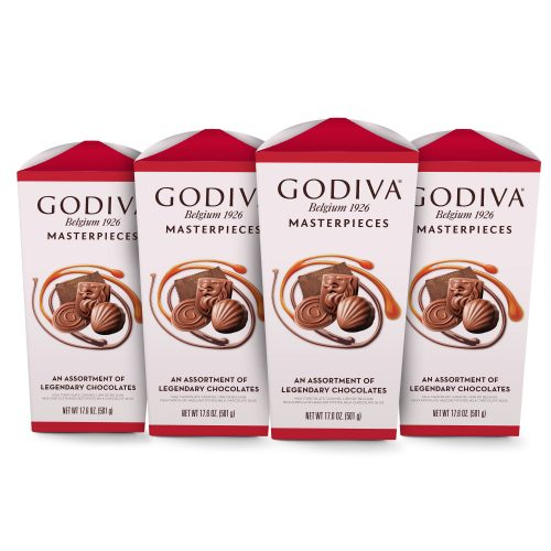 Godiva Masterpieces Assorted Chocolate Box, Set of 4, 17.6 oz each