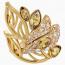 Swarovski Graceful Bloom Cocktail Ring, Brown, Gold-tone plated