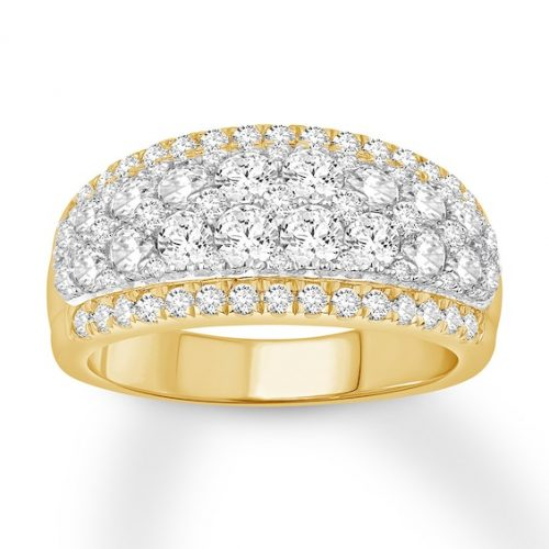 Kay Diamond Anniversary Band 2 ct tw Round-cut 14K Two-Tone Gold