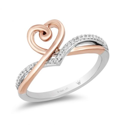 Kay Hallmark Diamond Heart Ring 1/10 ct tw Sterling Silver/10K Gold