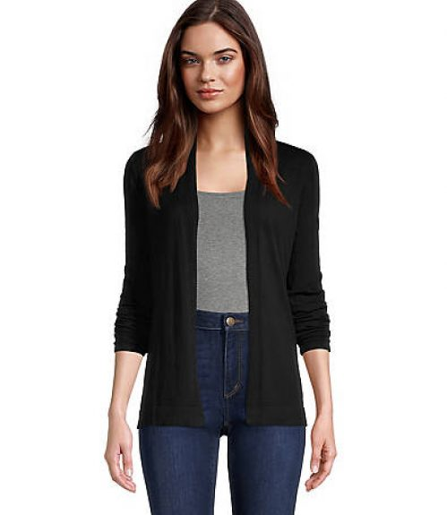 Loft Pointelle Cuff Open Cardigan