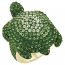 Swarovski Mustique Sea Life Turtle Ring, Large, Green, Gold-tone plated