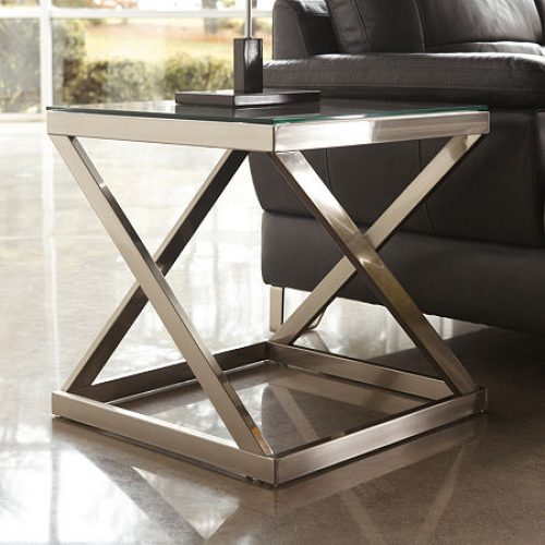 Signature Design by Ashley Coylin End Table, One Size , Silver