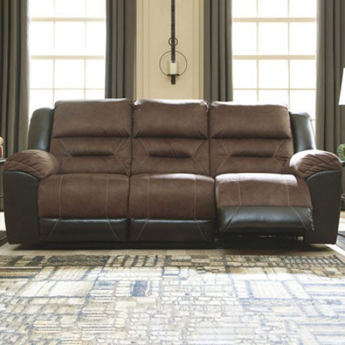 Signature Design by Ashley Earhart Reclining Sofa, One Size , Brown