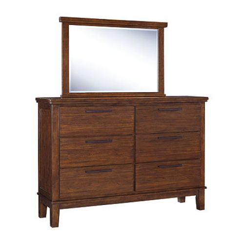 Signature Design by Ashley Ralene Dresser and Mirror, One Size , Brown