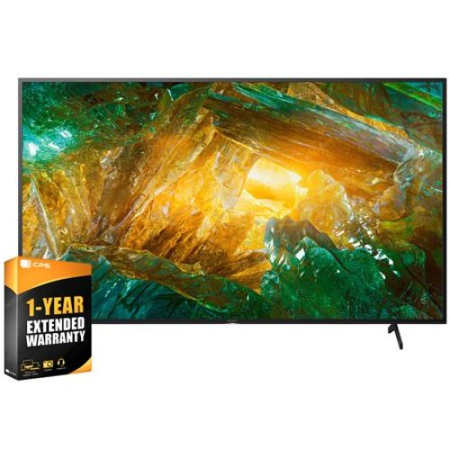 Sony XBR55X800H 55 inch X800H 4K Ultra HD LED Smart TV 2020 Model Bundle with 1 Year Extended Warranty